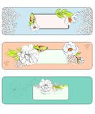 Decorative template for banners Royalty Free Stock Photos