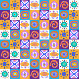 Decorative template with ethnic colorful designs Stock Photography