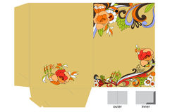 Decorative template for folder design. Universal template for greeting card, web page, background Stock Photography