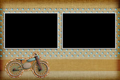 Decorative template with photo frames Stock Photography