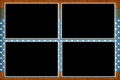 Decorative template with photo frames Stock Photo