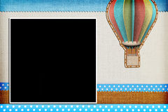 Decorative template with photo frames Royalty Free Stock Photo