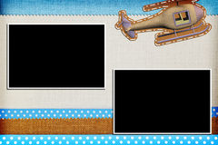 Decorative template with photo frames Stock Images