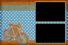 Decorative template with photo frames Stock Photos