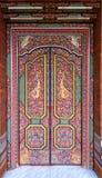 Decorative temple door in bali Stock Image