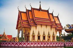 Decorative temple rooftop Stock Photography