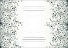 Decorative text card design. With floral ornament and copy space Stock Photography