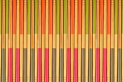 Decorative texture of bamboo chopsticks Royalty Free Stock Images
