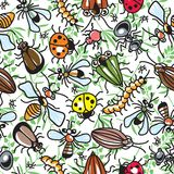 Decorative texture consisting of images of insects Stock Photos
