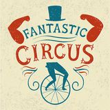 Decorative textured vintage  poster for circus Stock Image