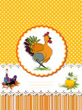 Decorative Thanksgiving Day card. Decorative card  for Thanksgiving Day with Turkey and room for text Royalty Free Stock Photo