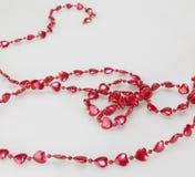 Decorative Thread of Love Hearts Royalty Free Stock Photography
