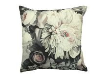 Decorative throw pillow. Decorative throw pillow with flower isolated on white background Stock Photo