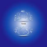 Decorative tiara in blue background Royalty Free Stock Photos
