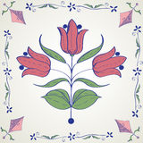 Decorative tile design Royalty Free Stock Photography