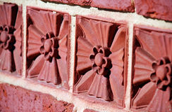 Decorative Tile Detail. Series of decorative tiles on a eighteenth century church in Maryland Royalty Free Stock Image