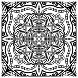 Decorative tile pattern design. Vector illustration. Geometric seamless pattern with black and white Stock Image