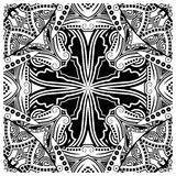 Decorative tile pattern design. Vector illustration. Geometric seamless pattern with black and white Royalty Free Stock Photos