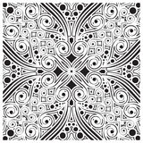 Decorative tile pattern design. Vector illustration. Geometric seamless pattern with black and white Stock Photos