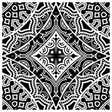 Decorative tile pattern design. Vector illustration. Geometric seamless pattern with black and white Royalty Free Stock Images