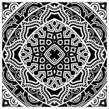 Decorative tile pattern design. Vector illustration. Geometric seamless pattern with black and white Royalty Free Stock Photography