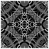 Decorative tile pattern design. Vector illustration. Geometric seamless pattern with black and white Stock Photography