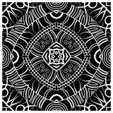 Decorative tile pattern design. Vector illustration. Geometric seamless pattern with black and white Royalty Free Stock Photo