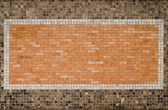 Decorative tile on wall. Close up decorative tile on fence wall Stock Photos