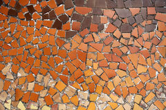 Decorative tiles. A wall full of tiles on gaudi casa batillo in barcelona royalty free stock photos
