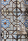 Decorative tiles on facade of house, Porto, Portugal Royalty Free Stock Photos