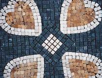 Decorative tiles,heart,love Stock Images