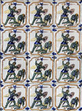 Decorative tiles in Pena palace, Sintra Stock Images