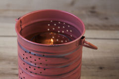 Decorative Tin Can Lantern Stock Image