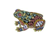 Decorative toad Royalty Free Stock Images