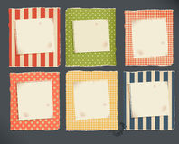 Decorative torn paper & notebook page Royalty Free Stock Image