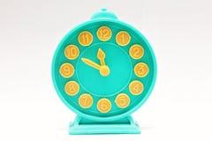 Decorative toy alarm clock. Stock Image