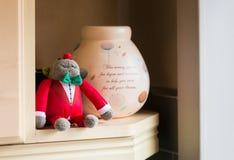 Decorative Toy and Pot Kitchen Shelve royalty free stock photos