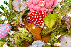 Decorative toy tree background Stock Images