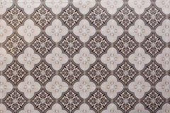 Decorative, traditional, brown Portuguese tiles. Royalty Free Stock Images