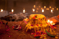 Decorative traditional Indian temple Stock Photo