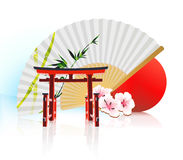 Decorative Traditional Japanese background Stock Photo