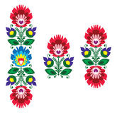 Folk embroidery - floral traditional polish pattern Stock Photo