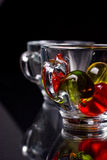 Decorative transparent cups Royalty Free Stock Photography