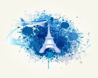 Decorative Travel and Splash Vector Stock Image