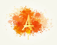 Decorative Travel and Splash Vector. Backround Royalty Free Stock Images