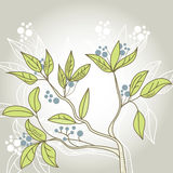 Decorative tree. Universal template for greeting card, web page, background Stock Photo