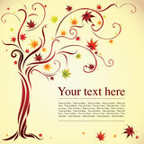Decorative tree from autumn leafs Stock Images