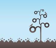 Decorative tree background Stock Images