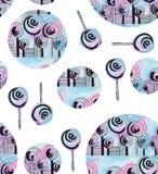 Decorative tree circle, pattern seamless. Decorative tree circle pattern seamless white background handmade stock illustration