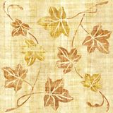 Decorative tree leaves - seamless background - papyrus texture Royalty Free Stock Photography
